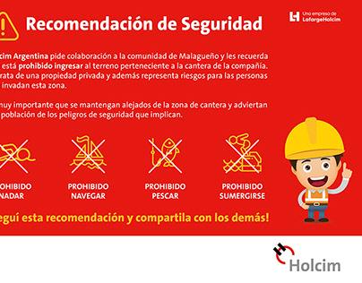 Ecard Seguridad Canteras, Holcim Argentina