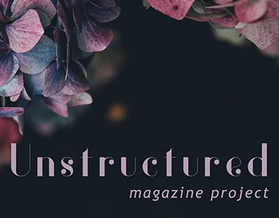 Unstructured - Fashion Magazine Project