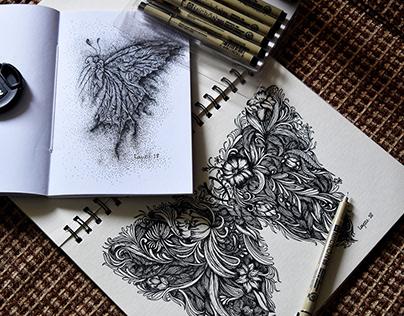 Line Art with Pen Drop.