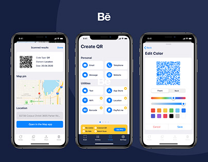 QR Scanner iOS App Design