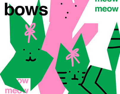 kittens with bows poster