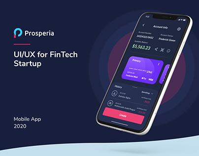 Prosperia | UX/UI Banking App Design
