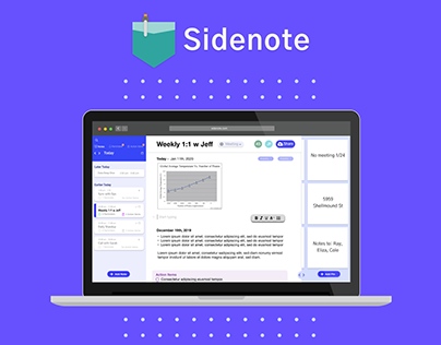 Sidenote - UX/UI Design