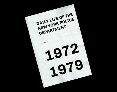 DAILY LIFE OF THE NY POLICE DEPARTMENT ⎜1972-1979.