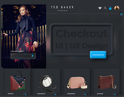 TED BAKER - Checkout - Daily UI Challenge - 002