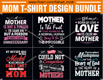 MOM T-SHIRT DESIGNS BUNDLE