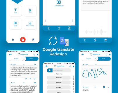 GOOGLE TRANSLATE APP REDESIGN CONCEPT