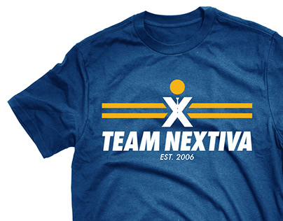 Team Nextiva Running Shirt Design