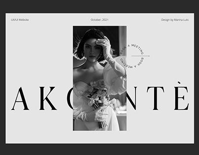 AKCENTE wedding studio | Web design concept
