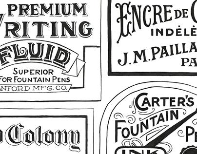 Inklopedia - vintage lettering and illustration