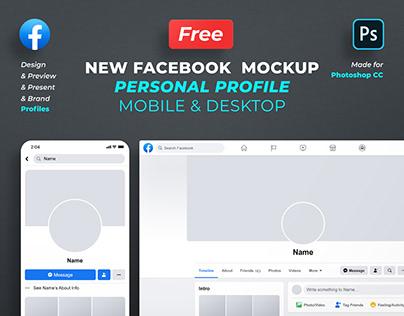 Free Facebook Profile Mockup 2020 - Photoshop Template