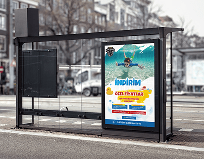 Swimming Club Sale Poster