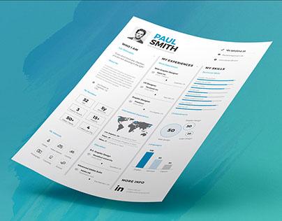 Infographic Resume/Cv Volume 7