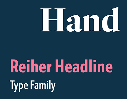 Reiher Headline type family