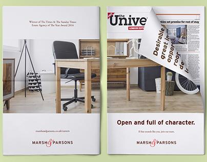 Marsh & Parsons Recruitment ad: The Uni Paper