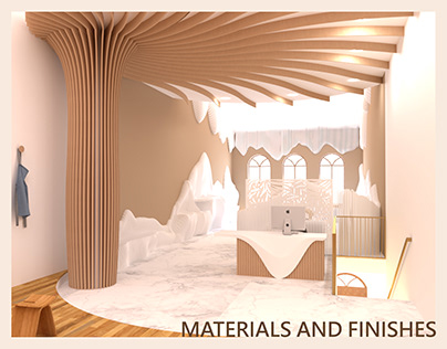 THE FLOW- Materials and Finishes Detailing drawing