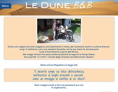 progetto sito web Le Dune B&B