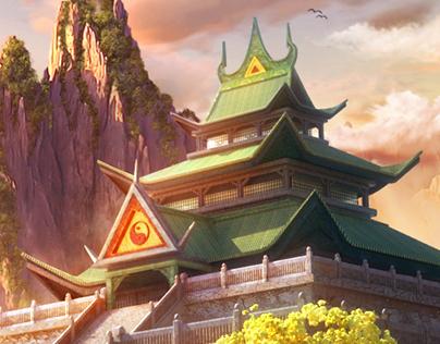 Asian Temple. Jade Dynasty