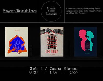 Diseño de 3 tapas de libros - Catedra Salomone 2020