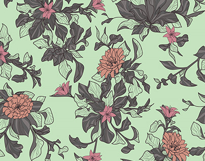 pretty floral repeat pattern