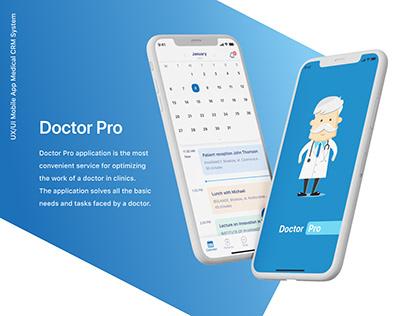 UX/UI Mobile App Medical CRM System