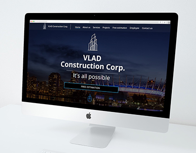 VLAD Construction Corp. Website redesign
