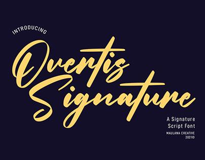 Overtis Signature Script Font