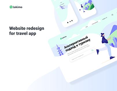 Lokimo   website redesign for travel app