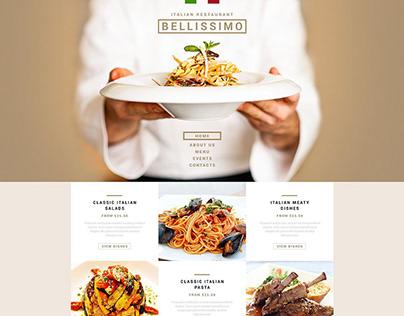 Restaurant. Food. Website.