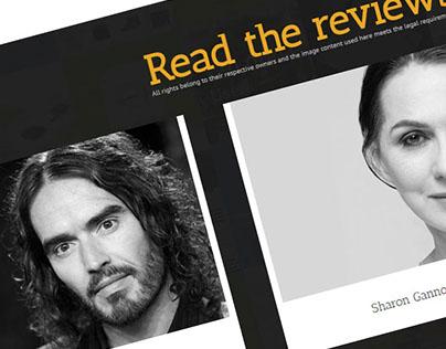 Responsive author website for International Best-seller