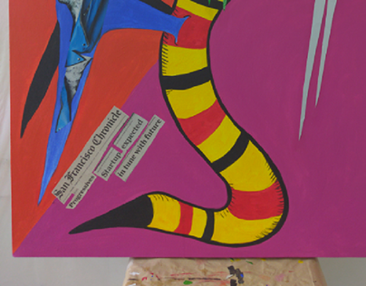 """""""Lobo Serpiente Volador"""" (artwork in progress)"""