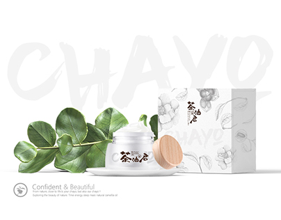 Brand design of CHAYO skin care Packaging web design