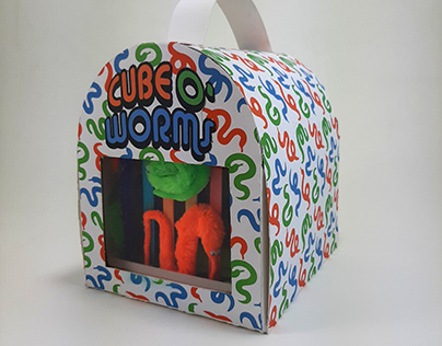 Package Design: Cube O' Worms