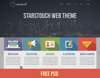 StarsTouch - Free Website Template