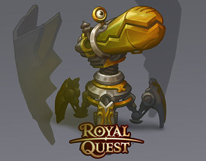 Steampunk robot for Royal Quest (2017)
