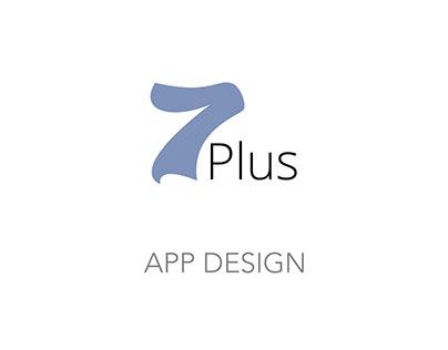 App design UI/UX · 7Plus