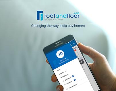 RoofAndFloor Mobile App Design