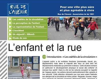 Plaquette de sensibilisation Rue de l'Avenir France