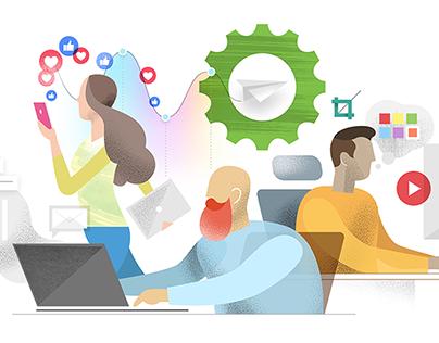 Website Redesign Illustrations