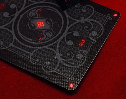 """No.17 """"Le Chat Rouge"""" Custom Playing Cards"""