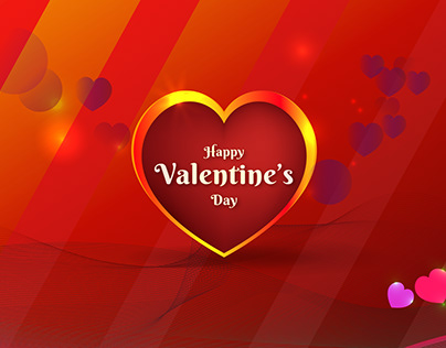 Happy Valentines Day Creative background Design-SSS