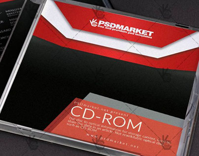 Color Music – Free CD Cover PSD Template