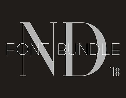 ND Font Bundle '18