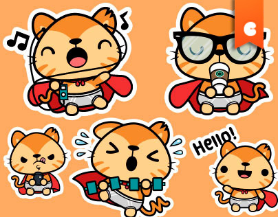 Supergato Stickers for MunkeeApps
