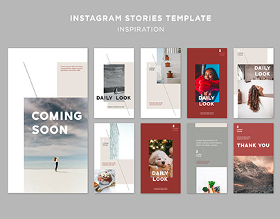 Instagram stories template inspiration