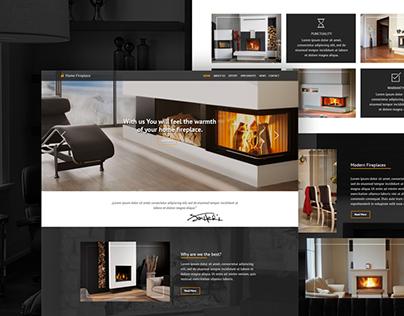 Domowe Ognisko (Installation of fireplaces) - Website
