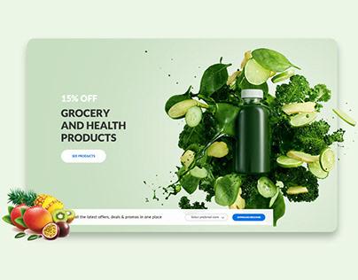 Super market website design | Matajir Al Saudia