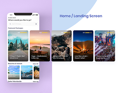 Travelon - Mobile App (.sketch, .psd, .xd download)