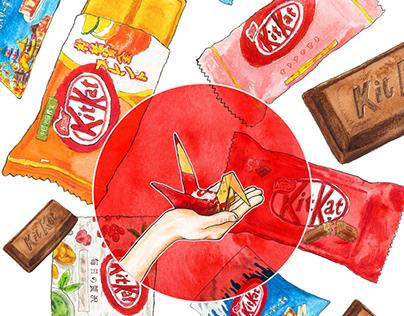 "Editorial Illustration ""The KitKat Paper crane"""