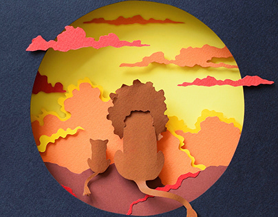 The Lion King | Paper art